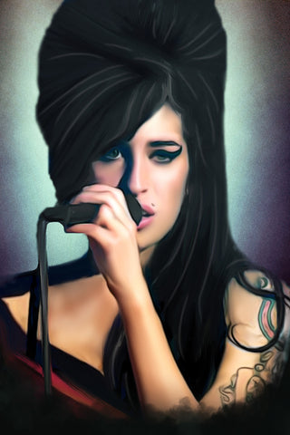 Amy Winehouse Digital Painting - Get Custom Art