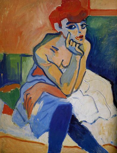 André Derain - Woman in a Chemise - Get Custom Art