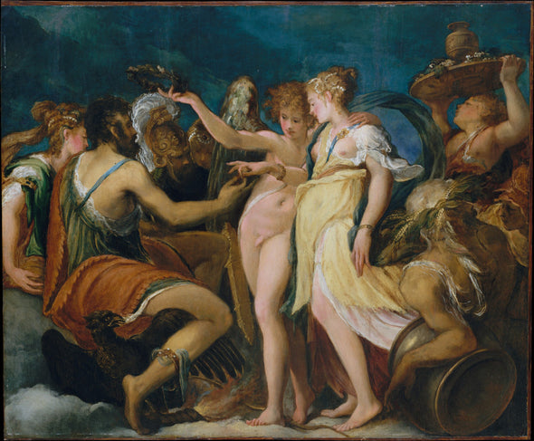 Andrea Schiavone - The Marriage of Cupid and Psyche