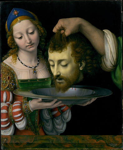 Andrea Solario - Salome with the Head of Saint John the Baptist - Get Custom Art