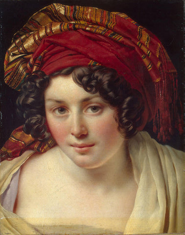 Anne-Louis Girodet de Roussy-Trioson - Head of a Woman in a Turban