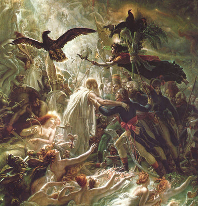 Anne-Louis Girodet de Roussy-Trioson - Ossian Receiving the Ghosts of the Fallen French Heroes