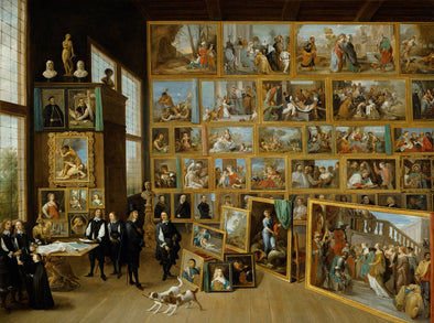 David Teniers the Younger - Archduke Leopold Wilhelm in his Gallery in Brussels