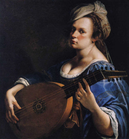 Artemisia Gentileschi - Self Portrait as a Lute Player