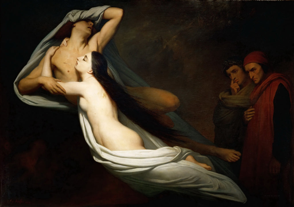 Ary Scheffer - The Ghosts of Paolo and Francesca Appear to Dante - Get Custom Art