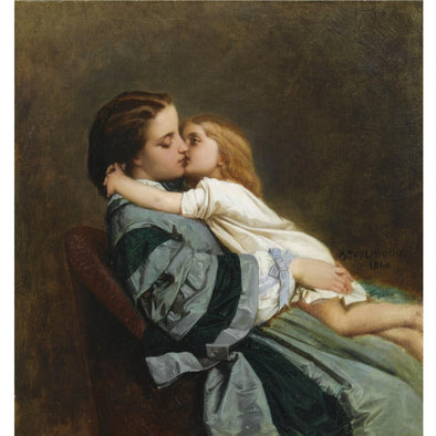 Auguste Toulmouche - Maternal Love - Get Custom Art