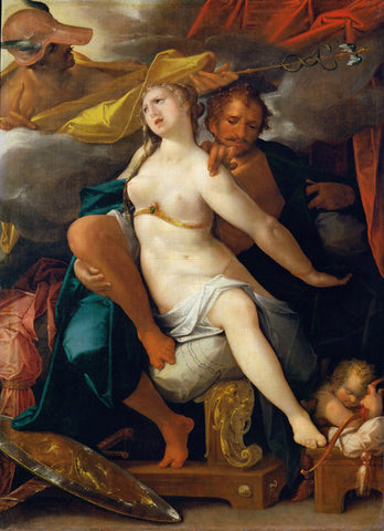 Bartholomeus Spranger - Venus and Mars warned by Mercury