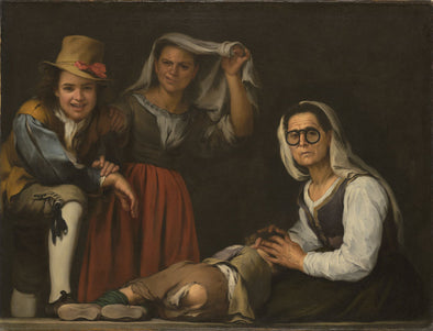 Bartolomé Esteban Murillo - Four Figures on a Step