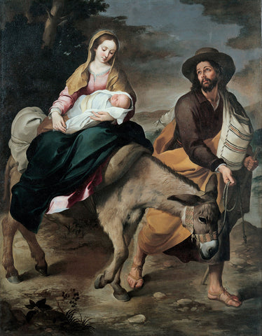 Bartolomé Esteban Murillo - The Flight into Egypt