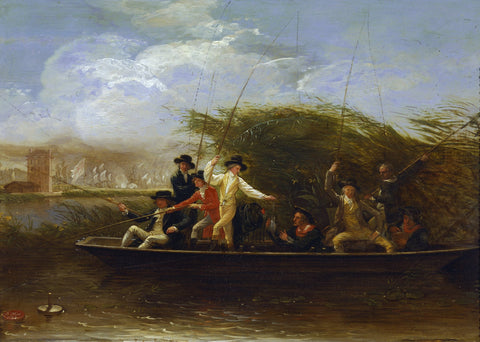 Benjamin West - A Party of Gentlemen Fishing