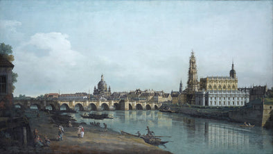 Bernardo Bellotto (Canaletto) - Dresden seen from the Right Bank of the Elbe, beneath the Augusts Bridge