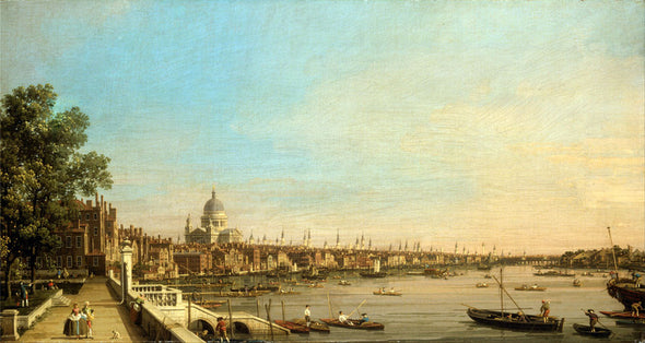 Bernardo Bellotto (Canaletto) - The Thames from the Terrace of Somerset House, Looking toward St Paul's