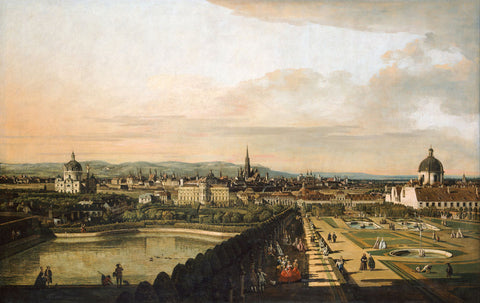 Bernardo Bellotto (Canaletto) - Vienna Viewed from the Belvedere Palace