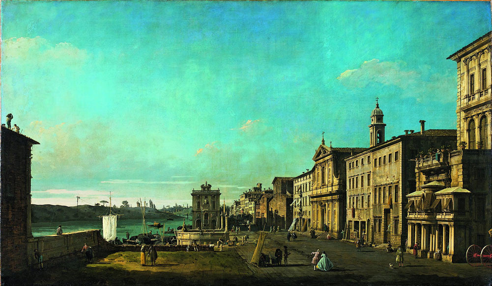 Bernardo Bellotto (Canaletto) - View of Via di Ripetta in Rome