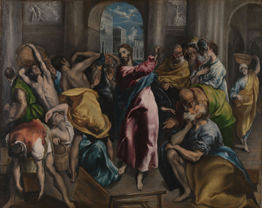 Bernardo Cavallino - Expulsion of merchants from the temple