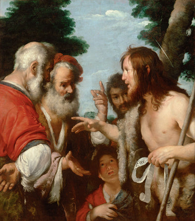 Bernardo Strozzi - The Sermon of St. John the Baptist