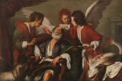 Bernardo Strozzi - Tobias Curing His Father's Blindness