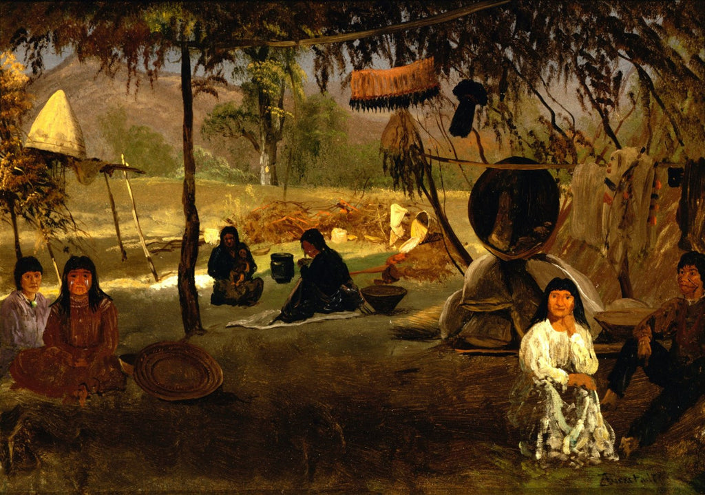Albert Bierstadt - California Indian Camp