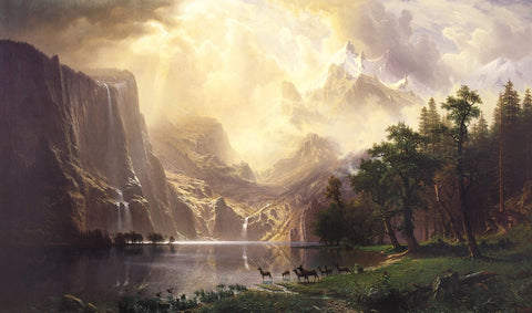 Albert Bierstadt - Among The Sierra Nevada Mountains