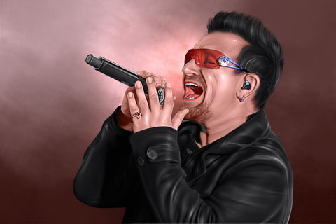 Bono Digital Painting - Get Custom Art