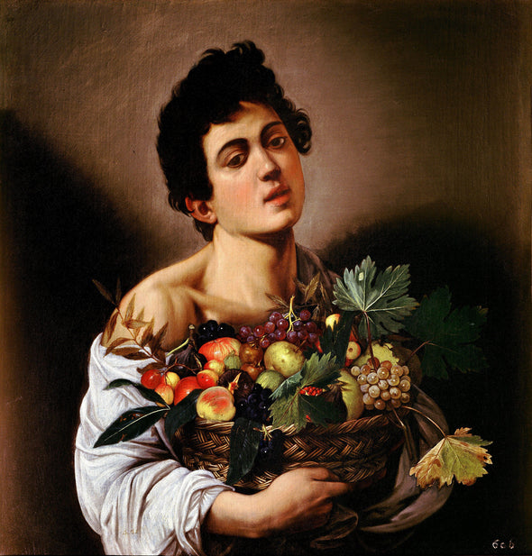 Caravaggio - Boy with a Basket of Fruit