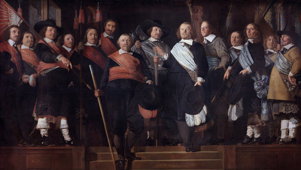 Caesar van Everdingen - Officers and Standard Bearers of the Old Civic Guard