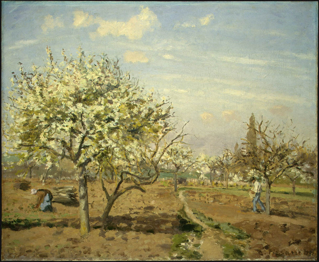 Camille Pissarro - Orchard in Bloom, Louveciennes