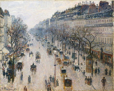 Camille Pissarro - The Boulevard Montmartre on a Winter Morning