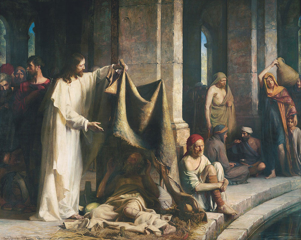 Carl Bloch - Christ Healing the Sick at Bethesda
