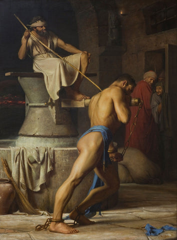 Carl Bloch - Samson and the Philistines