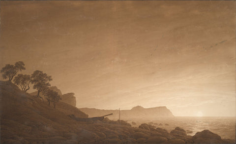 Caspar David Friedrich - View of Arkona with Rising Moon