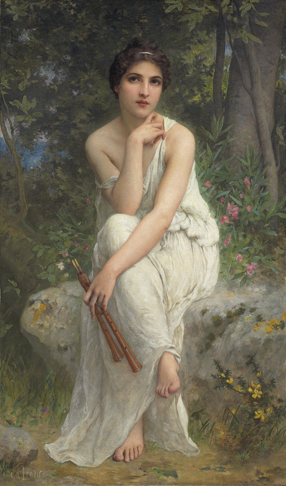 Charles-Amable Lenoir - The Flute Player