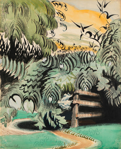 Charles Burchfield - Cricket Chorus in the Arbor