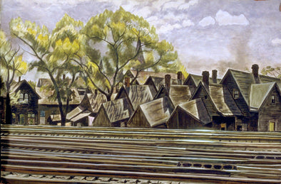 Charles Burchfield - Railroad In Spring