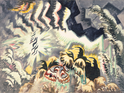 Charles Burchfield - The Moth And The Thunderclap