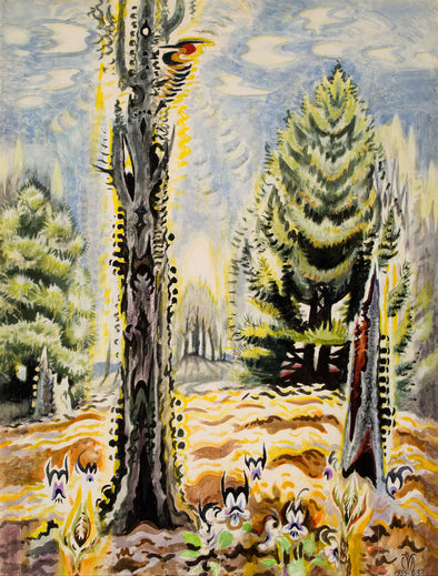 Charles Burchfield - The Woodpecker