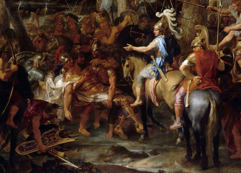 Charles Le Brun - Alexander the Great and Raja Por in the Battle of Hydaspes
