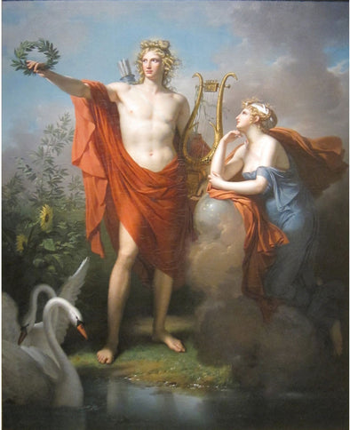Charles Meynier - Apollo, God of Light, Eloquence, Poetry and the Fine Arts with Urania, Muse of Astronomy