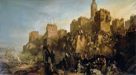 Claude Jacquand - Taking of Jerusalem Knights Templar