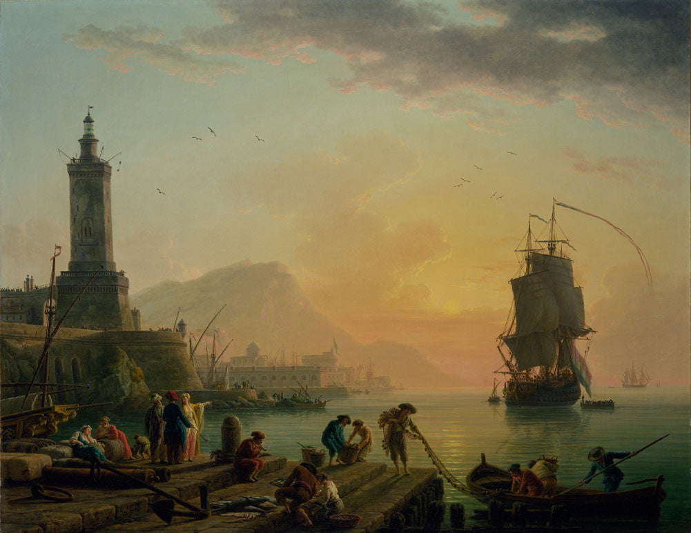 Claude Joseph Vernet - A Calm at a Mediterranean Port
