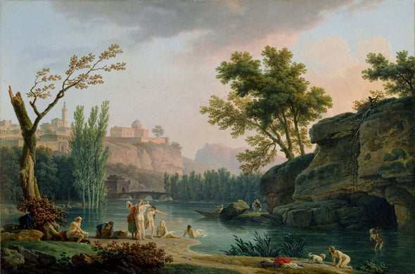 Claude Joseph Vernet - Summer Evening Landscape in Italy