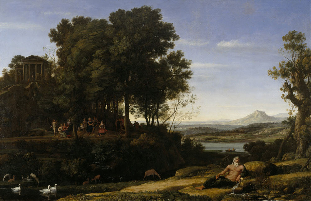 Claude Lorrain - Landscape with Apollo and the Muses