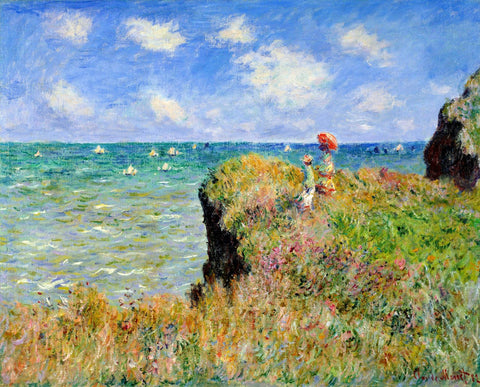 Monet - Clifftop walk at Pourville