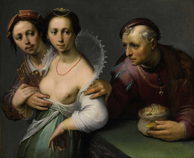 Cornelis van Haarlem - The Choice Between Young and Old