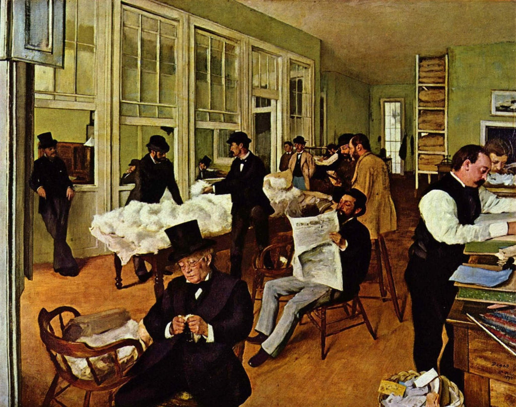 Edgar Degas - A Cotton Office in New Orleans