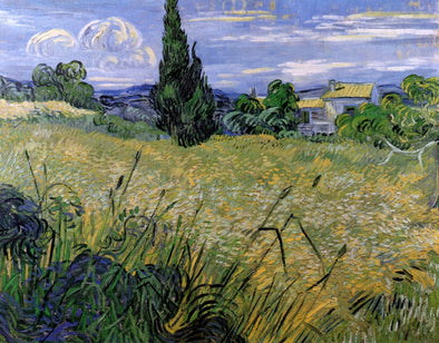 Vincent van Gogh - Green Wheat Field with Cypress