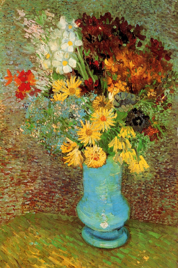 Vincent van Gogh - Vase with Daisies and Anemones
