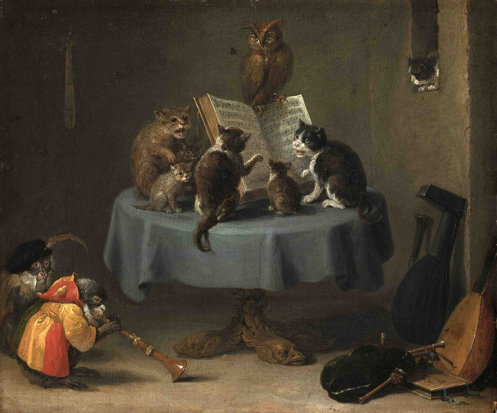 David Teniers the Younger - Cat Concert