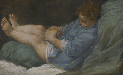 Donato Creti - A Sleeping Boy Holding An Apple