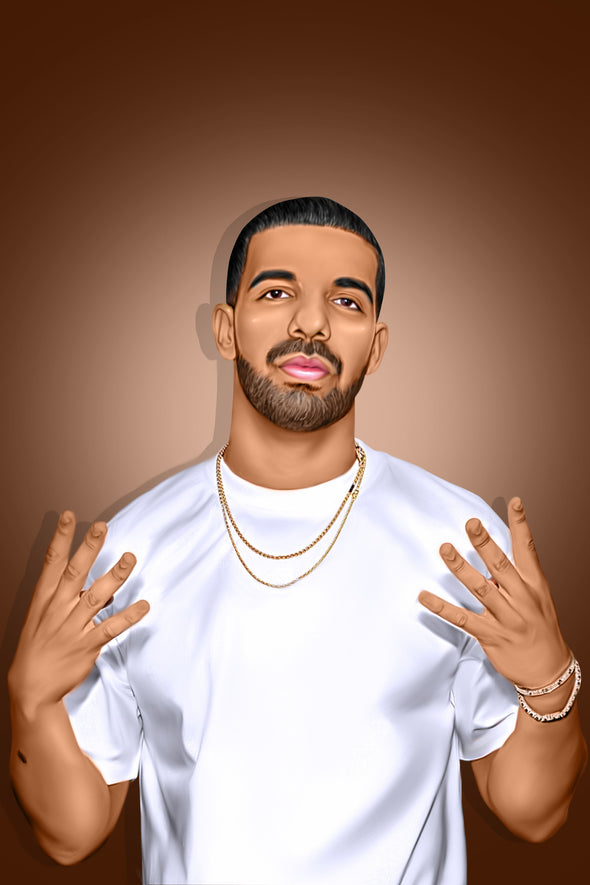 Drake Digital Painting - Get Custom Art